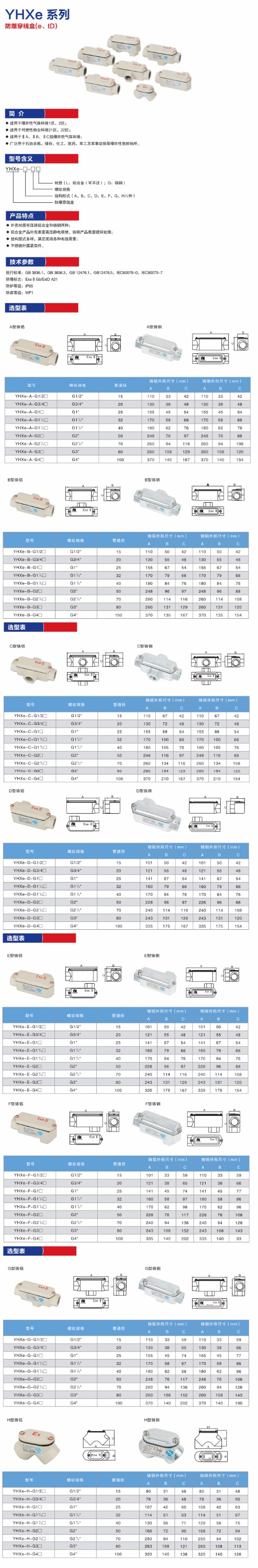 IP65 Explosion proof electrical junction box made in china