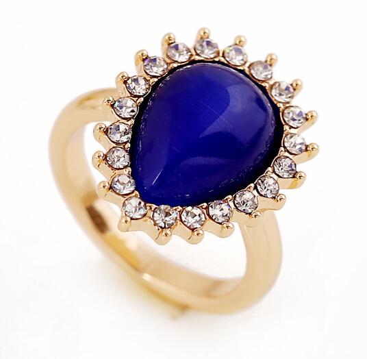 New Style Elegant Gold Ring Designs For Girls,Aquamarine Natural ...