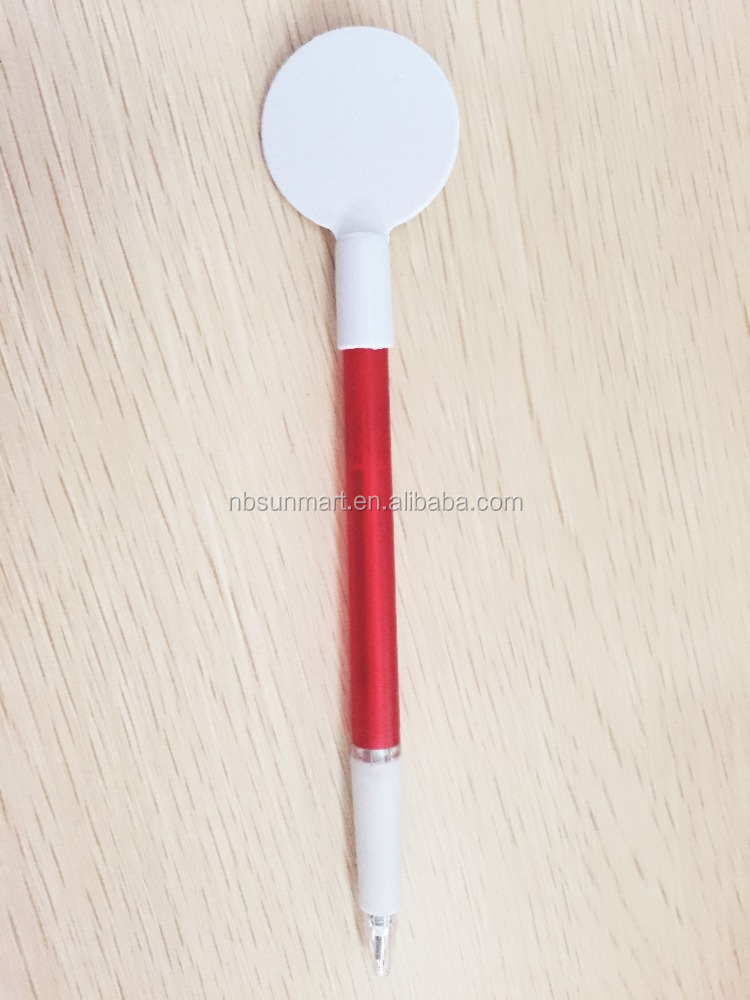 promotional thin round customized plastic ball pen