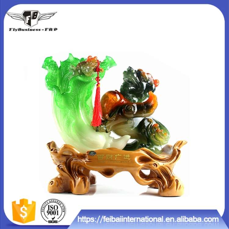 In stock Wholesale Green design FRP Resin material buy art online
