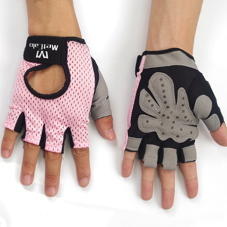 Anti-slip womens women's <strong>Weight</strong> Lifting Gym Fitness handschuhe pink Gloves