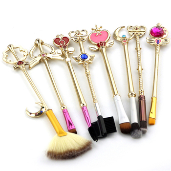 8pcs Professional Make Up Brushes Eyeshadow Foundation Blush Cosmetic Brush Set Kit Tool Sailor Moon Makeup Brushes