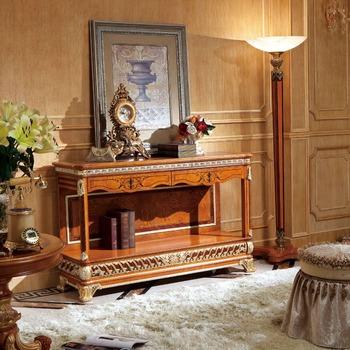 Yb62 Antik Kayu Meja Ruang Tamu Tradisional Mewah Royal Palace Konsol Rumah Furniture