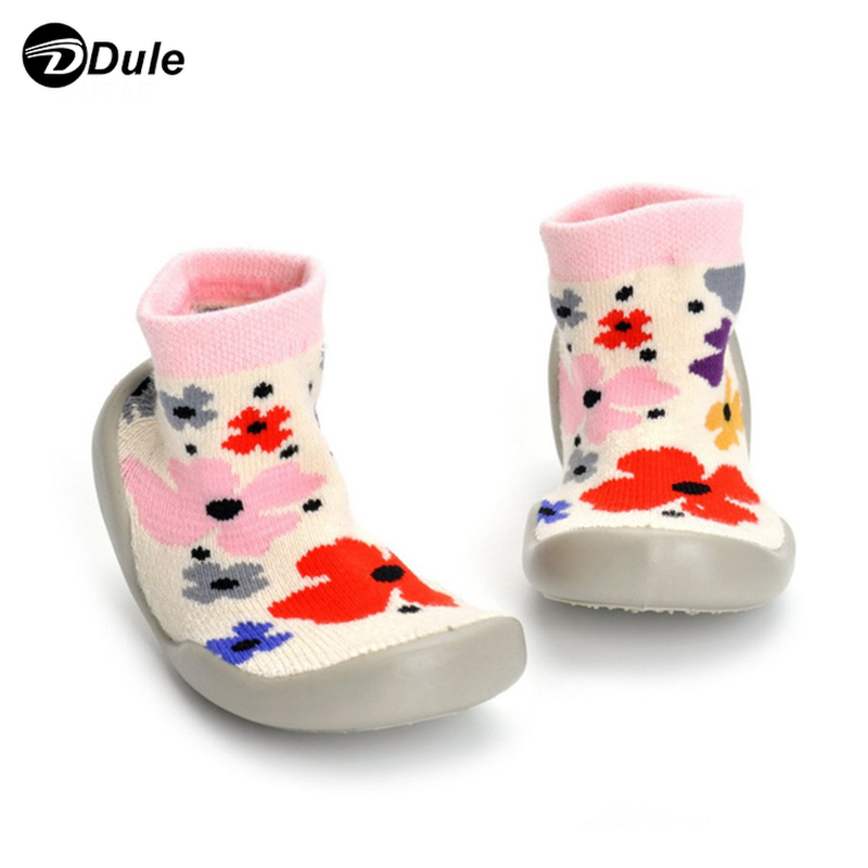 DL-I-1152 rubber sole shoe socks baby socks with rubber soles shoe socks baby