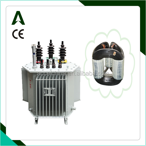 oil immersed distribution tridimensional toroidal core transformer