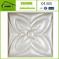 Classic and durable design with PU covering and pvc board finished 3d leather wall panels