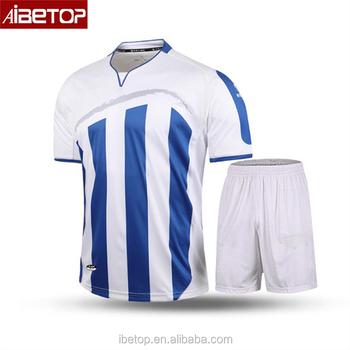 2018 al por mayor a granel personalizado azul y blanco uniformes de fútbol 4e31e9df9b311