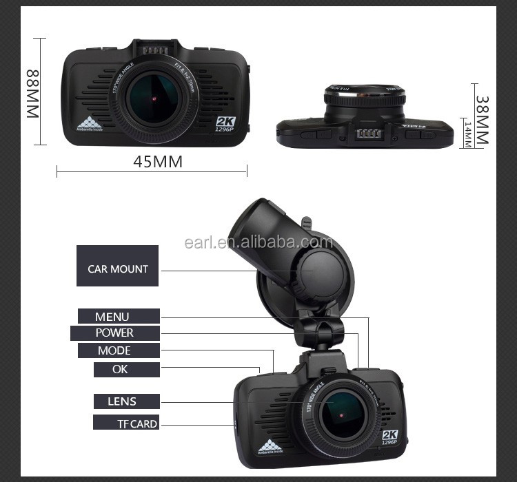Best Dash cam Car Camera DVR Recorder FHD Loop Recording Dashboard Camera with GPS G-Sensor Night Vision