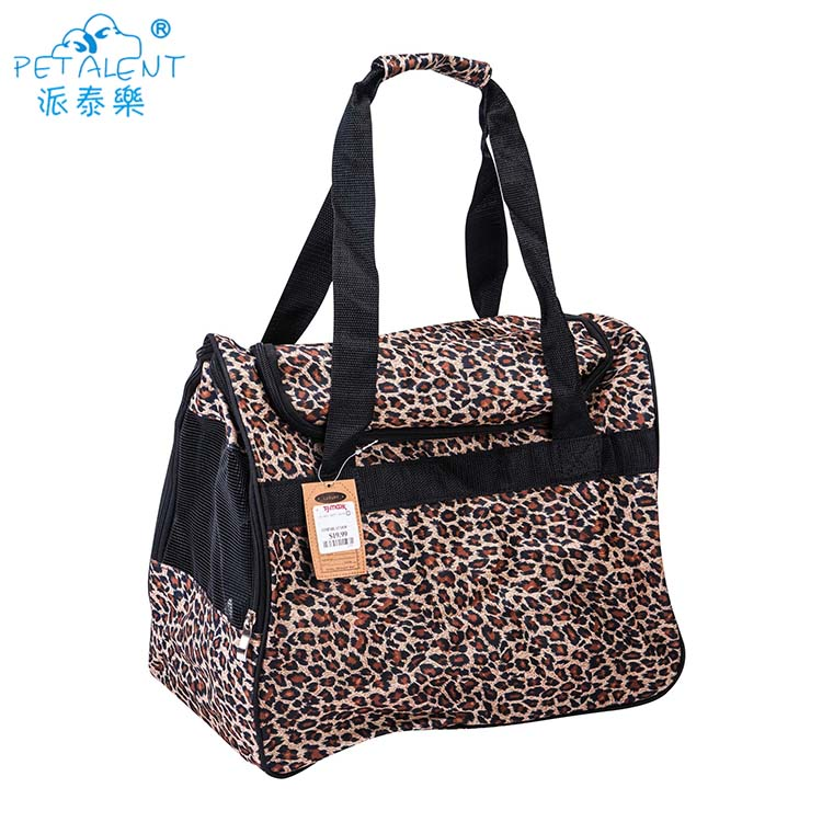 High quality stable leopard Pet travel carrier dog bag