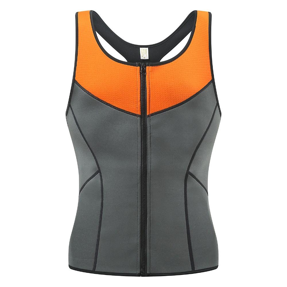 Newest Men Neoprene Sauna Suits Ultra Sweat Zipper Vest 2