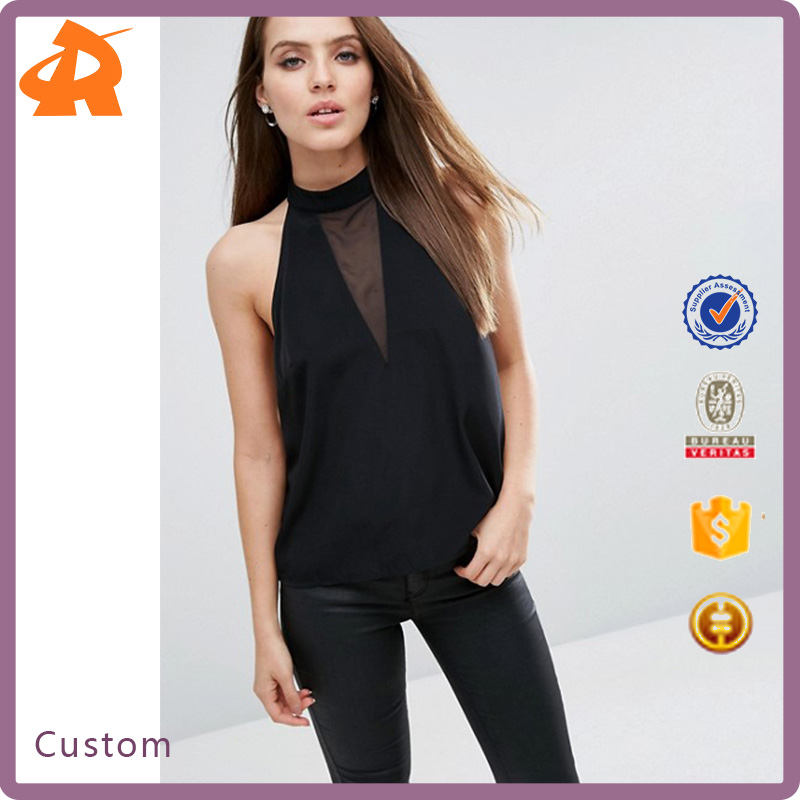 Women's Clothing Garment Apparel OEM/ODM Latest Design Women Tops and Blouses