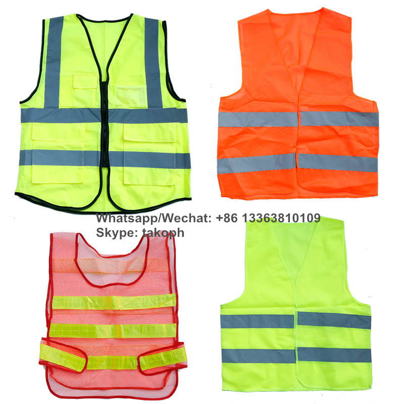 Adjustable Night Safety Running High Visibility Light LED Reflective Vest