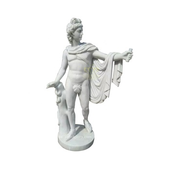 Outdoor Garden Home Decor Stone Carving Famous Marble David Statue