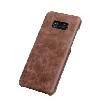 Smooth mobile phone leather case for samsung galaxy s8 plus case