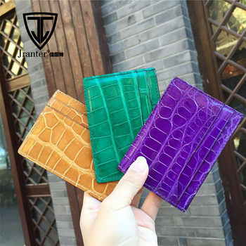 Wholesale crocodile leather business card holderfancy double sided wholesale crocodile leather business card holder fancy double sided leather card holder colourmoves Image collections
