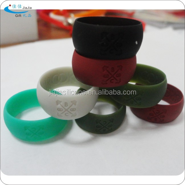 Customized rings high quality silicone wedding bands for couples