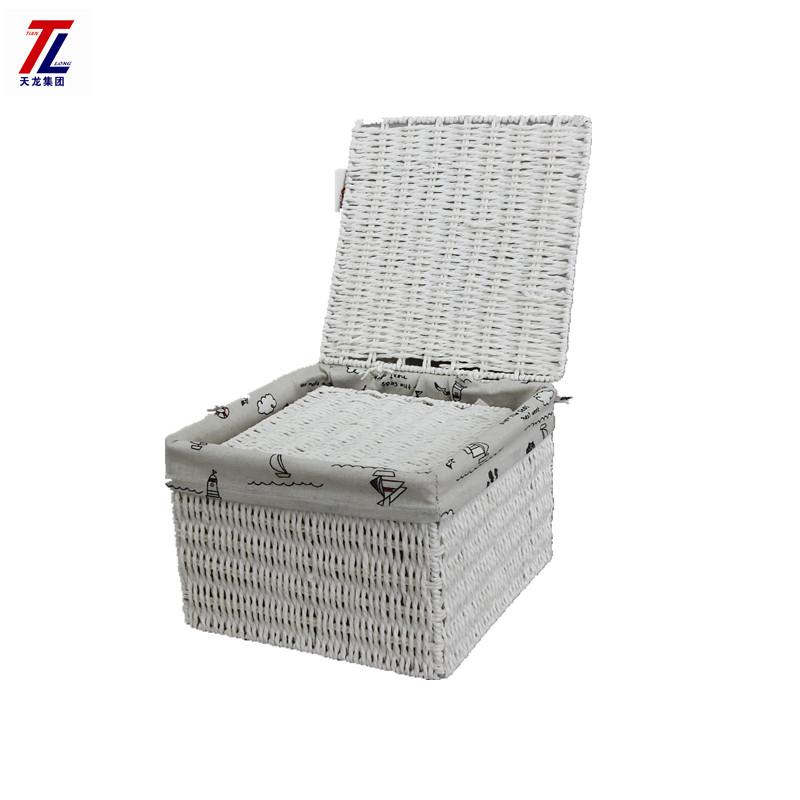 Barato Papel Reciclado Hecho A Mano Decorativo Almacenamiento Contenedor  Caja Con Tapa Ecológico Productos China