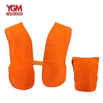 100% Polyester Safety Reflective Vests With Pouch
