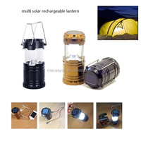 Popular promotional gift camping portable led solar lantern