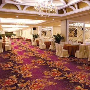 Floral Hotel Wool Commercial Carpet