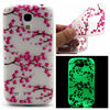 Luminous tpu blossom case for Samsung Galaxy S4 MINI, Soft tpu cover for Samsung i9190