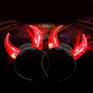 Ten LEDs Flashing Small Devil Horn Girls Light Headbands Adult Kids Party Decor