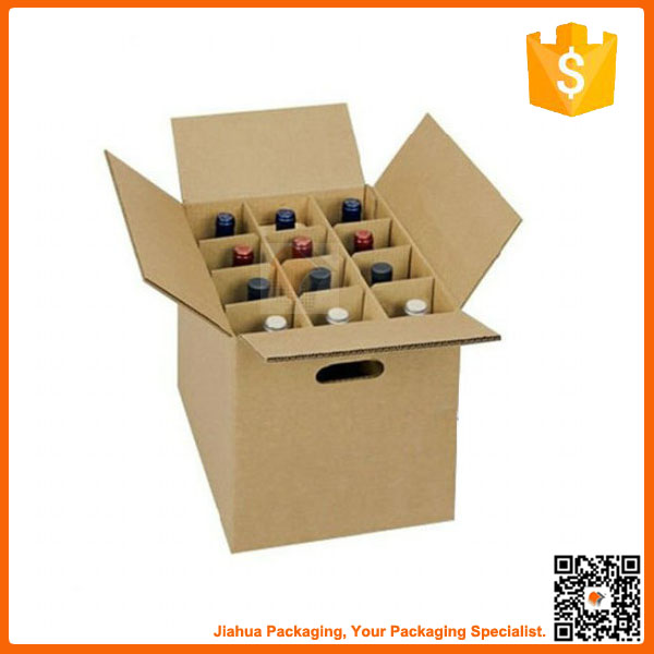 Customized promotional wine box 12 in packing