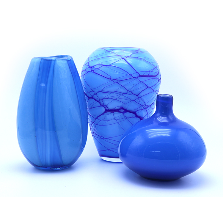 Wholesale 100cm Tall Colored Bell Mouth Glass Vase Slim Vase Tall Flower Vase for Home Decor