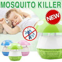 New Design Electric Inhaled Enviromental Mosquito Killer trap 6 LED night Lamp/ Dust