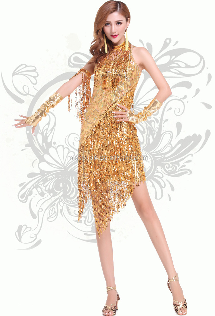 d9fe9cb84 new style sequins tassel latin dance dress/fashion design adult latin dance  dress/Wholesale performance dancewear for adult