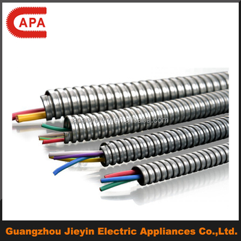 squarelocked flexible metal emt conduit for electrical wire buy rh alibaba com Electrical Wiring Metal Studs Outdoor Wiring