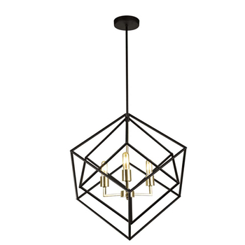 Post Modern Hanging Pendant Lamp Restaurant Iron Geometric Light