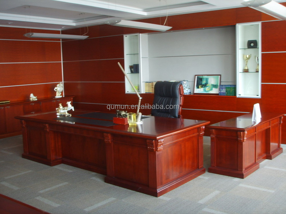 High end modern executive office table solid wood ceo
