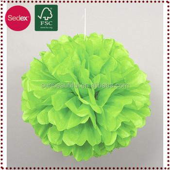 Hanging paper flower ballcraft glitter pom poms for wedding buy hanging paper flower ball craft glitter pom poms for wedding mightylinksfo