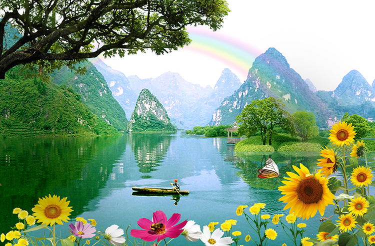 Natural Scenery Painting Photo Wallpaper 3d Wall Price View