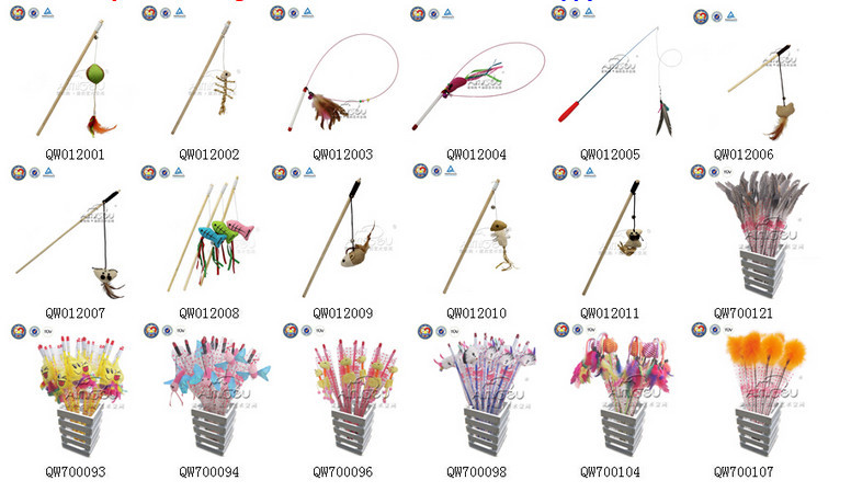 Qqsesign factory fishing rod cat toy cat toy ideas for Cat toy fishing pole