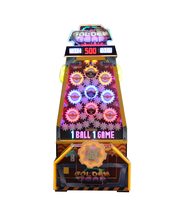 2017 Game Plus New Model Ticket golden Gear Redemption Luck Game Machine for amusement center