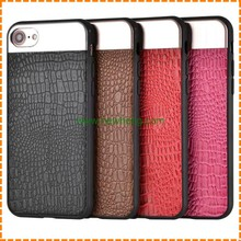 New products crocodile grain pu leather Splicing drawing back cover case for iphone 7