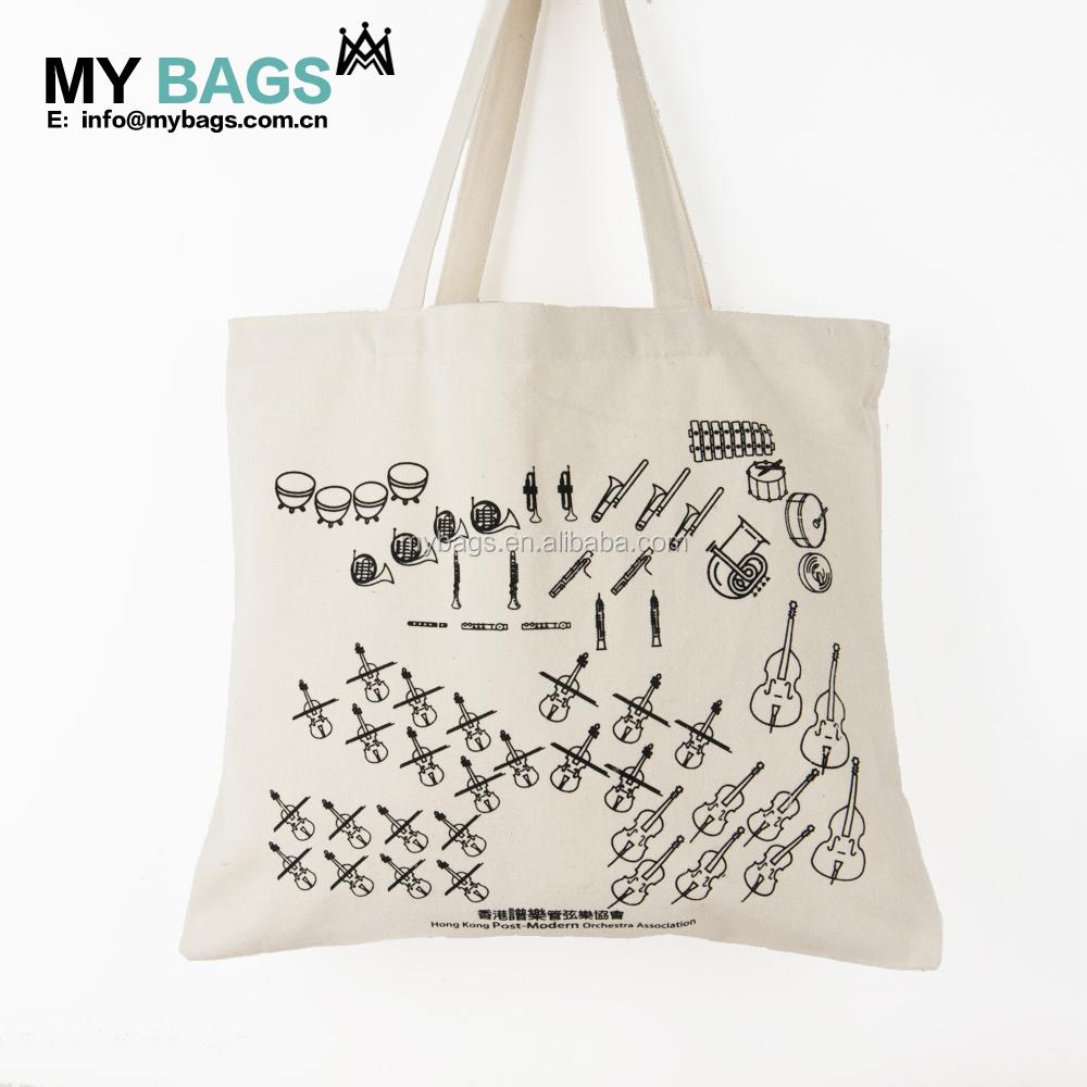 プロモーション安い卸売ロゴ印刷リサイクル丈夫な生地有機キャラコ白カスタムコットンキャンバスショッピングトートバッグ
