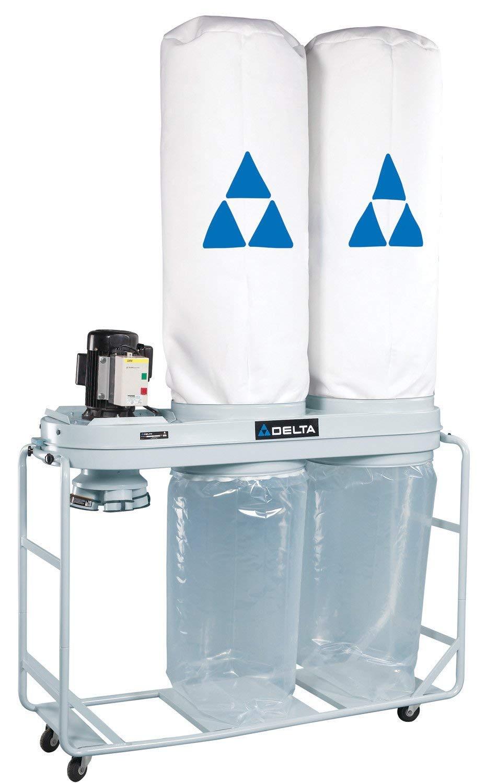 DELTA 50-762 3 Horsepower 4 Bag 2,700 CFM Dust Collector, 230-Volt 3 Phase