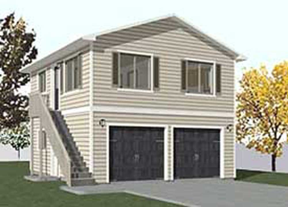 Buy Garage Plans: Two Car, Two Story Garage With Apartment ...