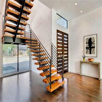 Steel Wood Tread Open Riser Stairs Buy Stainless Steel Wood Stairmodern Wood Stairsused Stairs For Sale Product On Alibabacom