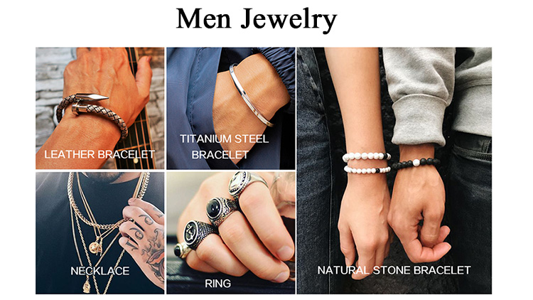XULIN Handmade Men Luxury Charm Gold Nail Genuine Leather Bracelet