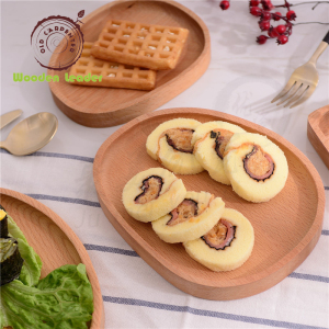 Customized Wooden Japanese bread dishes & Kids food dinner plates