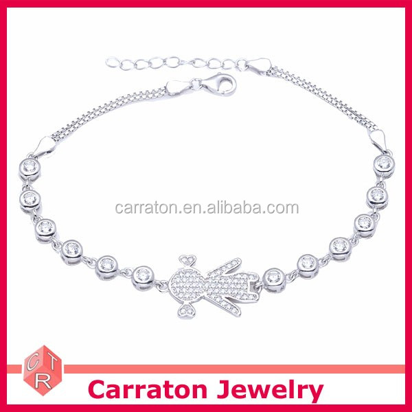 Newborn Baby 925 Real Silver Bracelet
