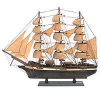 "Wooden ""cutty sark"" boat model wooden decoration sailing boat model"