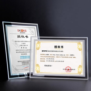 Hot sale clear acrylic photo frame a4 acrylic certificate frame manufacturer