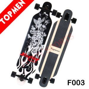 "Topmen 41"" Flying Skateboard Wood Complete Long board"