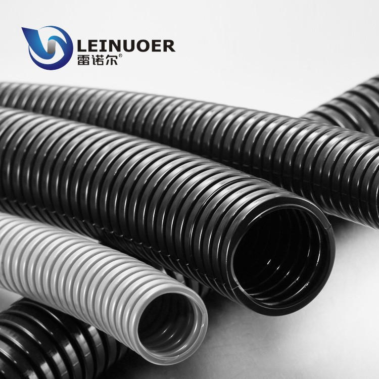 China factory imported raw PA6 flexible corrugated electrical conduit pipes with FV-0 fire resistance