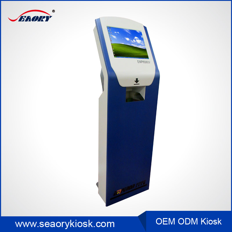 ticket issuing touch screen terminal machine vending price check kiosk
